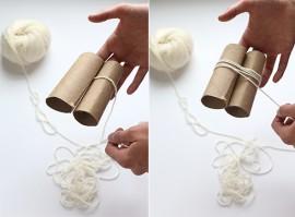 Kobereček z bambulek